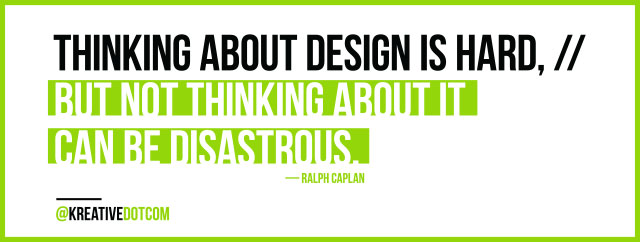 Thinking About Design is Hard ... Ralph Caplan